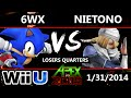 Apex 2015 - 6WX (Sonic) Vs. Nietono (Sheik) - Losers Quarters - Smash Wii U