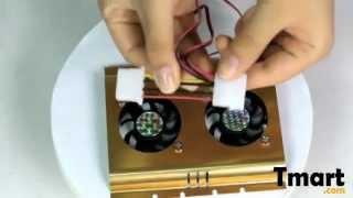 3.43 SATA IDE 3.5 Hard Disk Drive Fan Cooler Gold-81005305