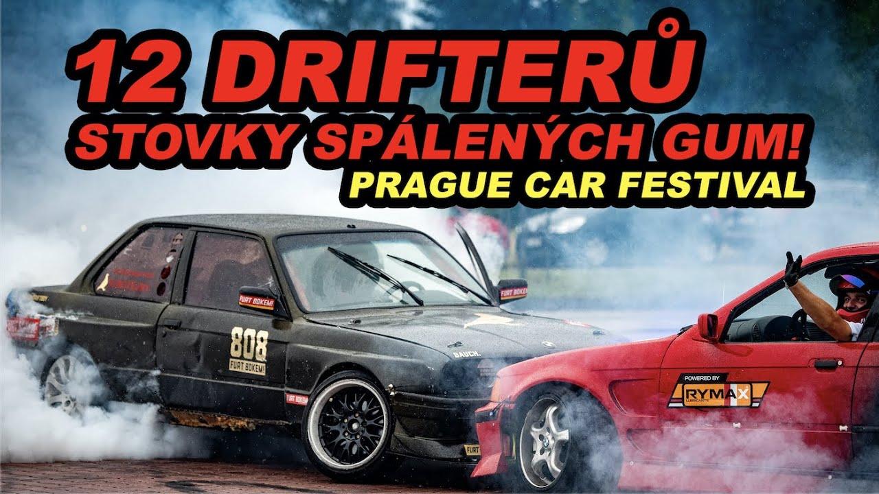 12 drifterů a stovky spálených gum! | Prague car festival 2020