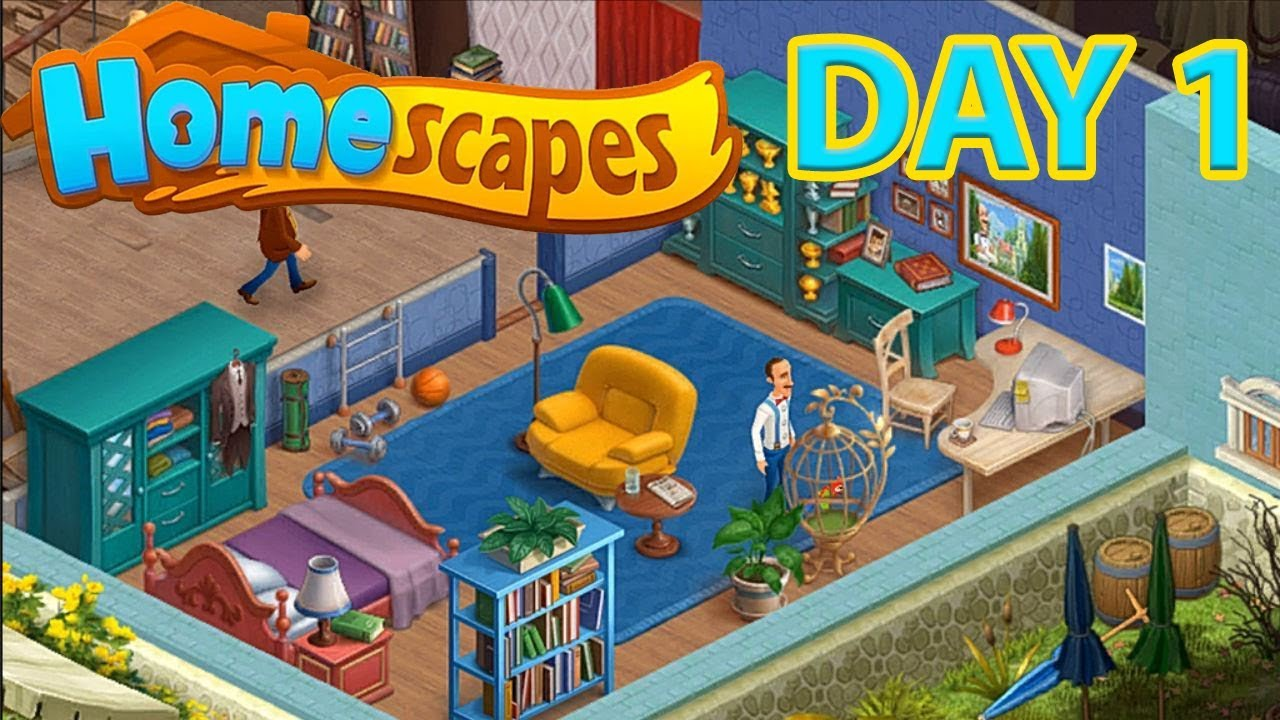 Homescapes Gameplay Android Ios Day 1 Walkthrough