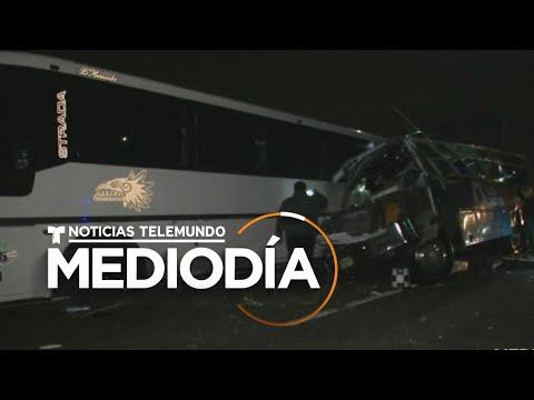 Detienen al chofer del tercer autobús del fatal accidente que dejó 13 muertos en México