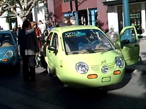 Zap Car on display in Santa Monica California
