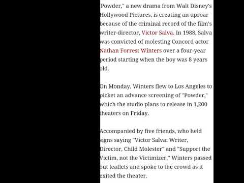 Director Victor Salva abused 6 year old  Article