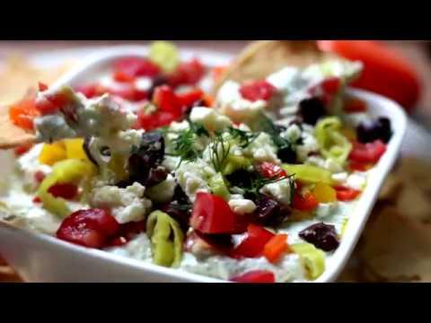 Greek Salad Feta Dip with Pop & Cook Crushed Garlic