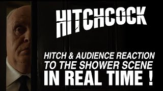 Hitchcock (2012) - Hitch reaction to the shower scene in real time