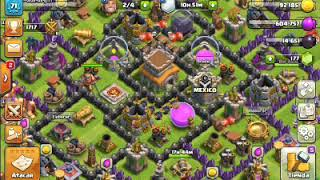 Mi primer gameplay comentado de clash of clans /repeticiones de guerra # 1