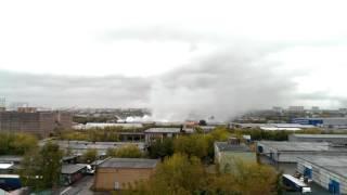 Тот самый злополучный пожар ВАО в Москве на ул.Амурская