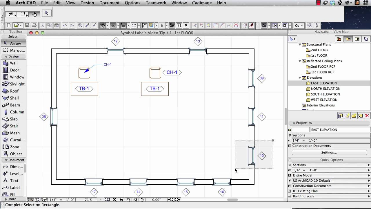 Archicad tutorial how to label elements automatically youtube