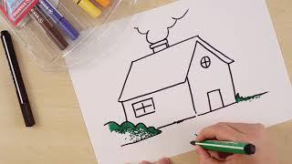 رسم المنزل