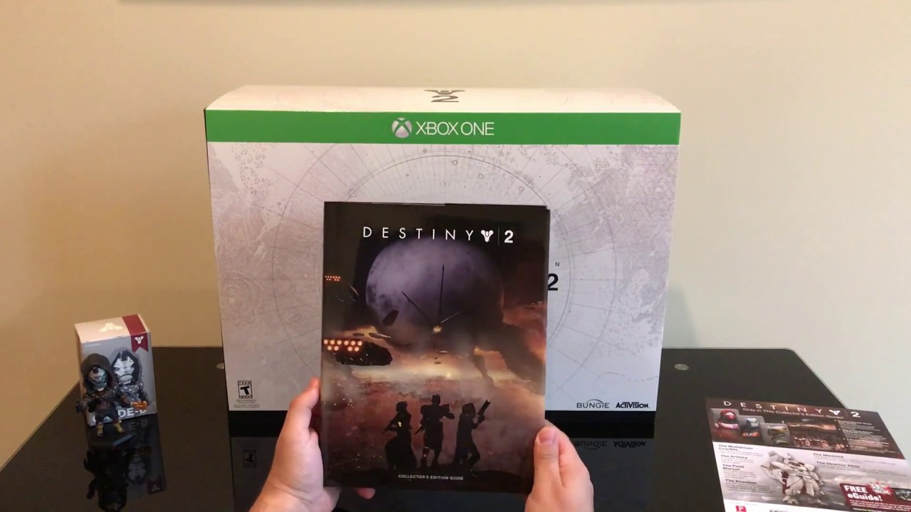 Destiny 2 collectors edition for sale - Destiny 2 Collector S Edition Game Guide Clyde 6 Figurine Puzzle Xbox One Unboxing