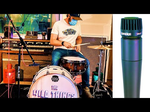 One SM57 for drum recording - Microphone placement is crucial for getting a great sound
