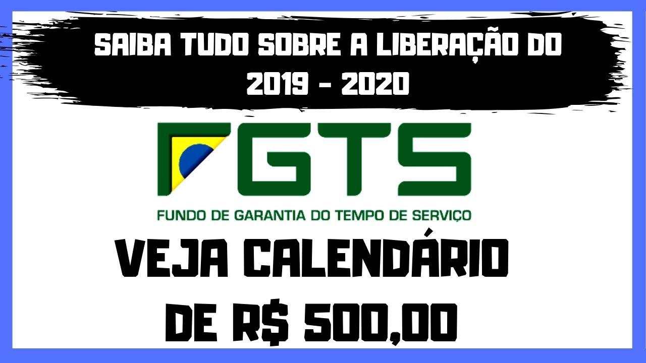 Calendário fgts 2020