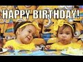 Miya and Keira's Minion Birthday Party! - March 05, 2016 -  ItsJudysLife Vlogs