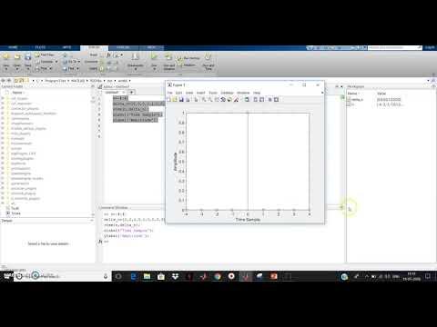 MATLAB Program for Dicrete Unit Impulse Function