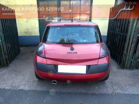 renault megane ii 1 6 16v halk sportkipufog hang youtube. Black Bedroom Furniture Sets. Home Design Ideas
