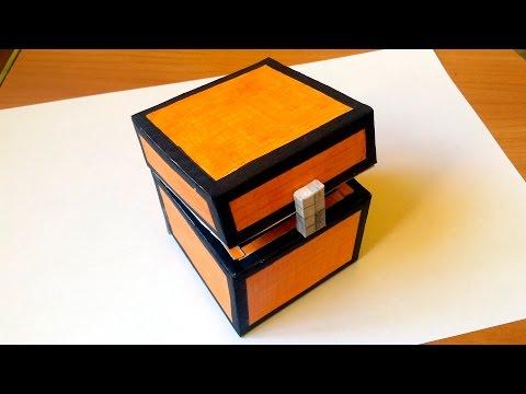 Как сделать из бумаги сундук