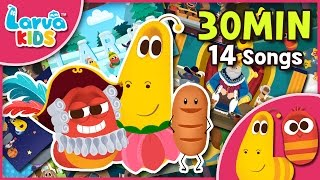 [Nursery Rhyme Compilation] 30min Larva Song for Children - Larva kids 14 songs - English