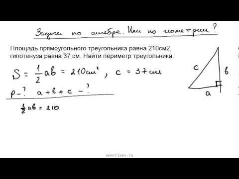 Как вычислить периметр прямоугольного треугольника