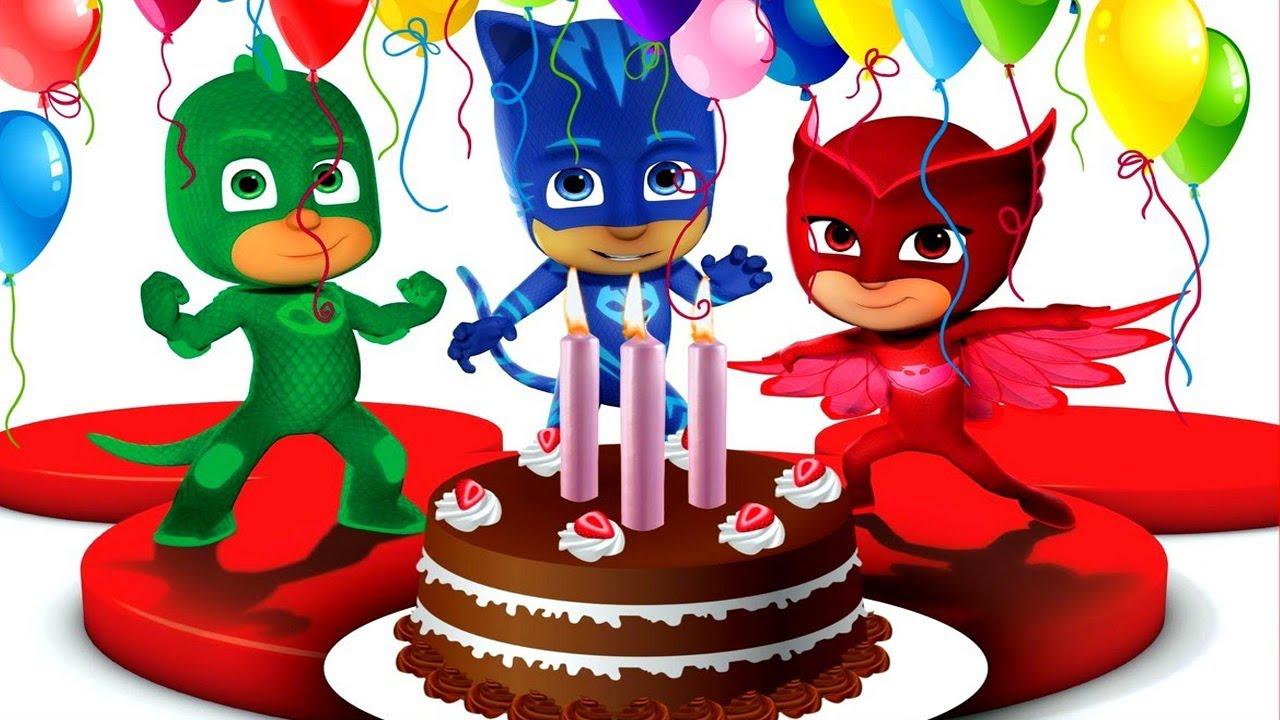 Pj Masks Birthday Cake Surprise With Catboy Owlette Gekko Masha