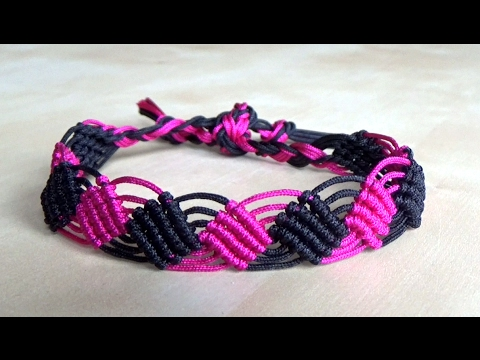 Tuto Easy Squares Macrame Bracelet