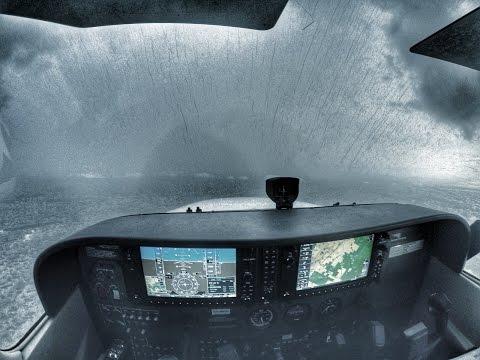Cessna 172SP | Localizer Approach & Landing | Bad Weather | Pompano Beach