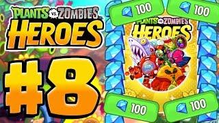Video SPENDING 100 GEMS! | Plants Vs Zombies Heroes Gameplay Walkthrough Part 8 (PvZ Heroes Ep 8) download MP3, 3GP, MP4, WEBM, AVI, FLV Februari 2018