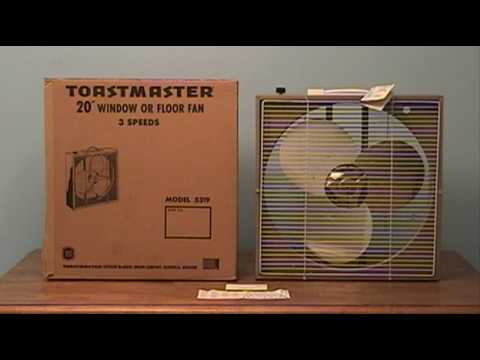 Vintage Mint Toastmaster 20 Inch Box Fan Youtube