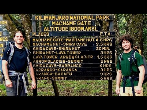 Kilimanjaro - Day 1 - Machame Route
