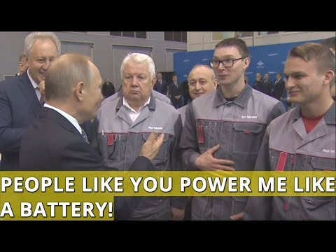 Putin To Aviation Specialists: People Like You Power Me Like a Battery