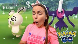 RARE RESEARCH SHINY! Shiny Spinda & Shiny Darkrai Raid Day | Pokémon GO
