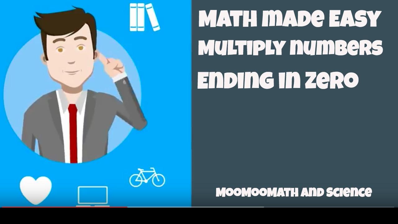 Math Tricks--Multiply by zero - YouTube