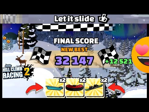 HILL CLIMB RACING 2 - 32147 Points In LET IT SLIDE