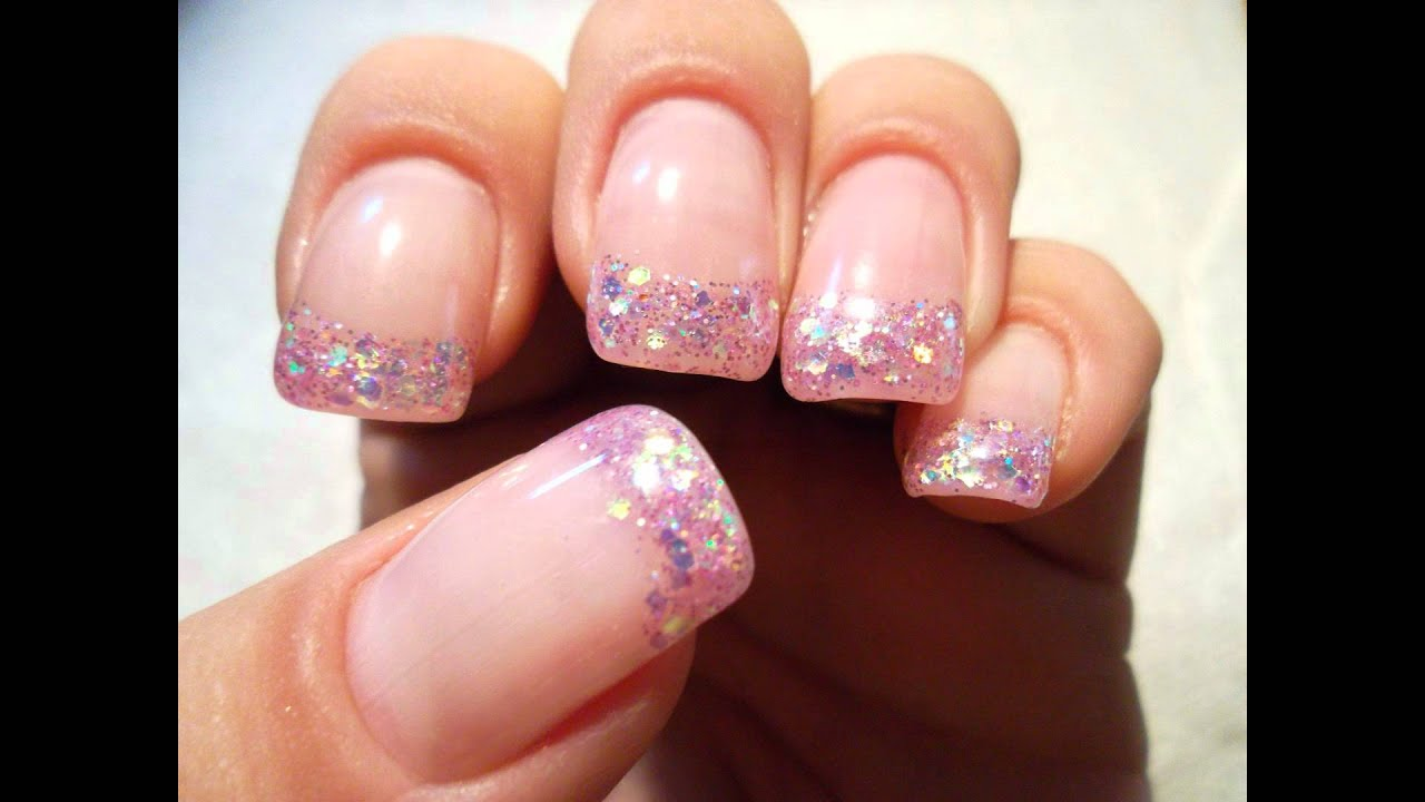 pink glitter uv gel review - youtube