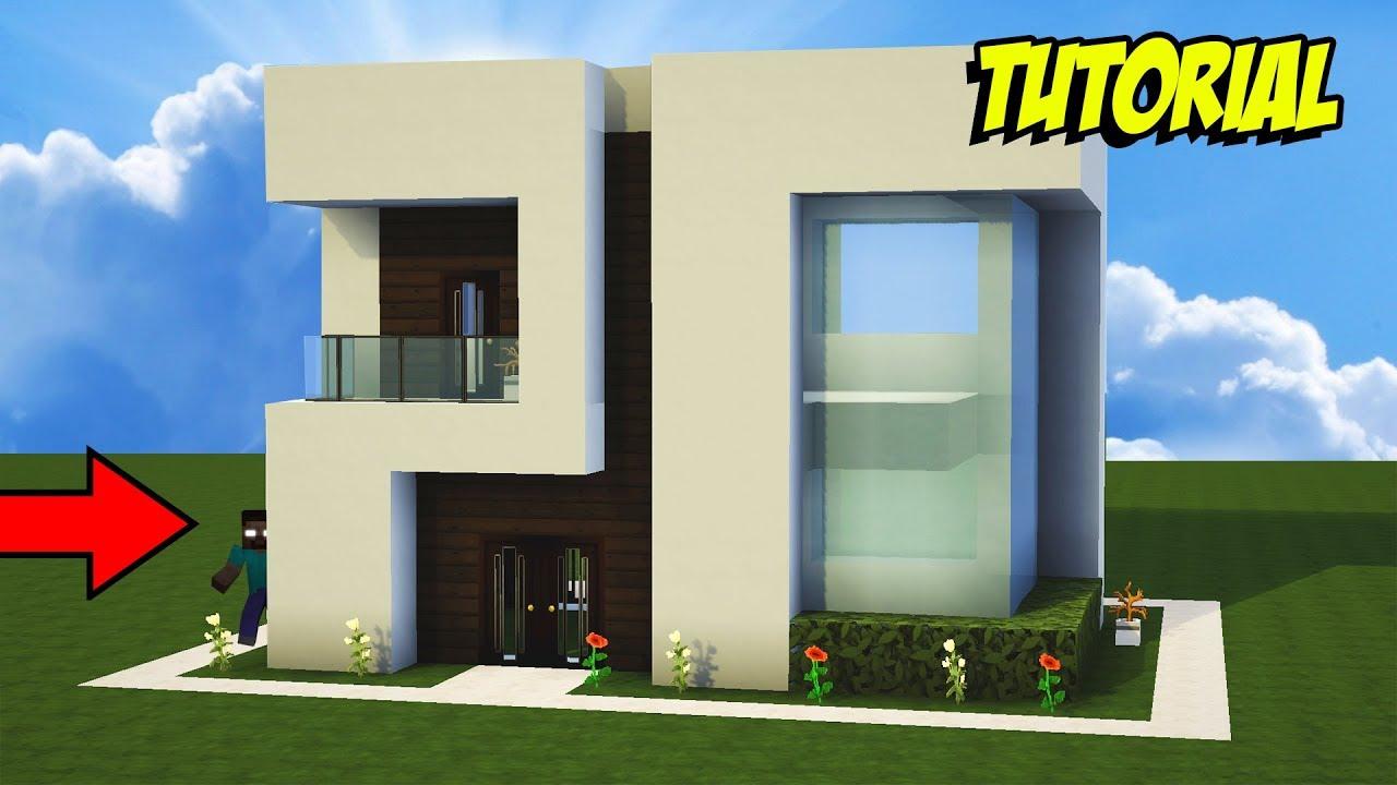 Minecraft tutorial casa moderna para survival youtube for Casa moderna survival minecraft