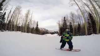 Mauricio first steps snowboarding canyons Utah Thumbnail