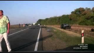 """Авария с летальным исходом произошла на 38 км. автодороги """"Журовская-Тихорецк""""."""