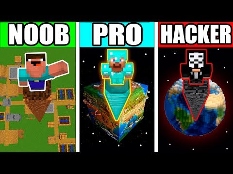 Minecraft - NOOB vs PRO vs HACKER - GIANT POST POLE TOWER Challenge! Animation!