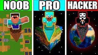 Minecraft - NOOB vs PRO vs HACKER - GIANT POST POLE TOWER Challenge! Animation!