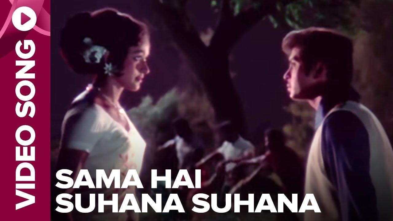 Download Sama Hai Suhana Suhana (Video Song) - Ghar Ghar Ki Kahaani - Rakesh Roshan, Jalal Agha