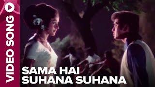 Sama Hai Suhana Suhana (Video Song) - Ghar Ghar Ki Kahaani - Rakesh Roshan, Jalal Agha