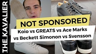 Greats vs Koio vs Svensson vs Common Projects vs Kent Wang and more - The Best Minimalist Sneakers