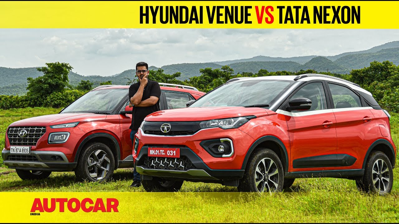 2020 Tata Nexon vs Hyundai Venue -  The battle of the 120hp petrol SUVs | Comparison | Autocar India