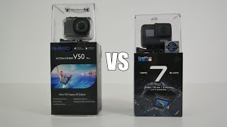 GOPRO HERO 7 Black VS AKASO V50 Pro - Head to Head Comparison