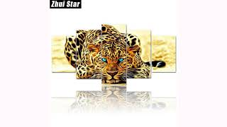 """Full Square Diamond Painting """"Animal Leopard"""" Multi-picture Combination 3D Embroidery FREE SHIPPING!"""