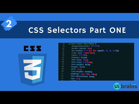 02 CSS Selectors Part 1 | css tutorial for beginners | Ui Brains | Naveen Saggam thumbnail