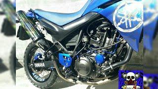 Moto XT 660 Azul Pintura Personalizada   Ninho Mofo