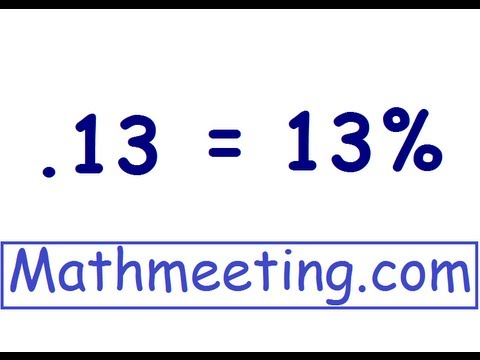 Decimal to percent - YouTube