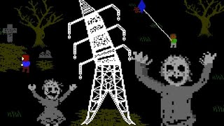 PYLONS - A Freaky MS-DOS Styled Pylon Safety PSA Horror Game That Teaches You The Dangers of Pylons!