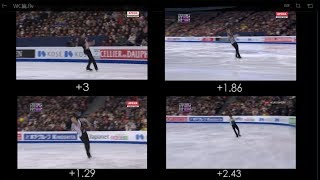 Collection of Jumps from Men's Single in Season 2016-17 (WC) (Worlds)