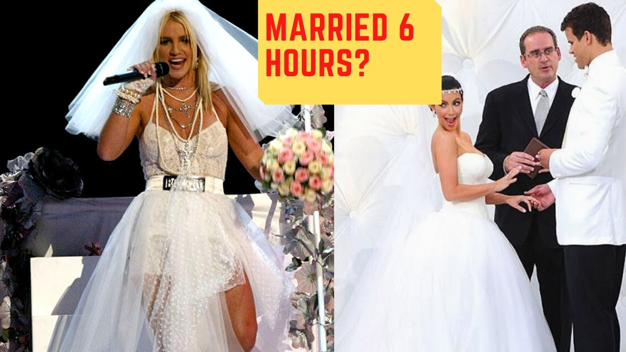 Shortest Celebrity Marriages Ever | No. 1 LASTED 6 HOURS